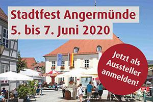 Banner Stadtfest Angermünde 2020